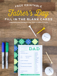Freebie | Father's Day Fill in the Blank Card