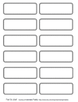 simple black and white labels from Clean Mama
