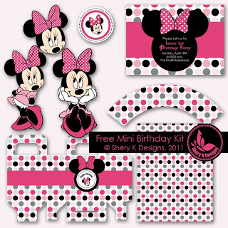 minnie mouse freebies