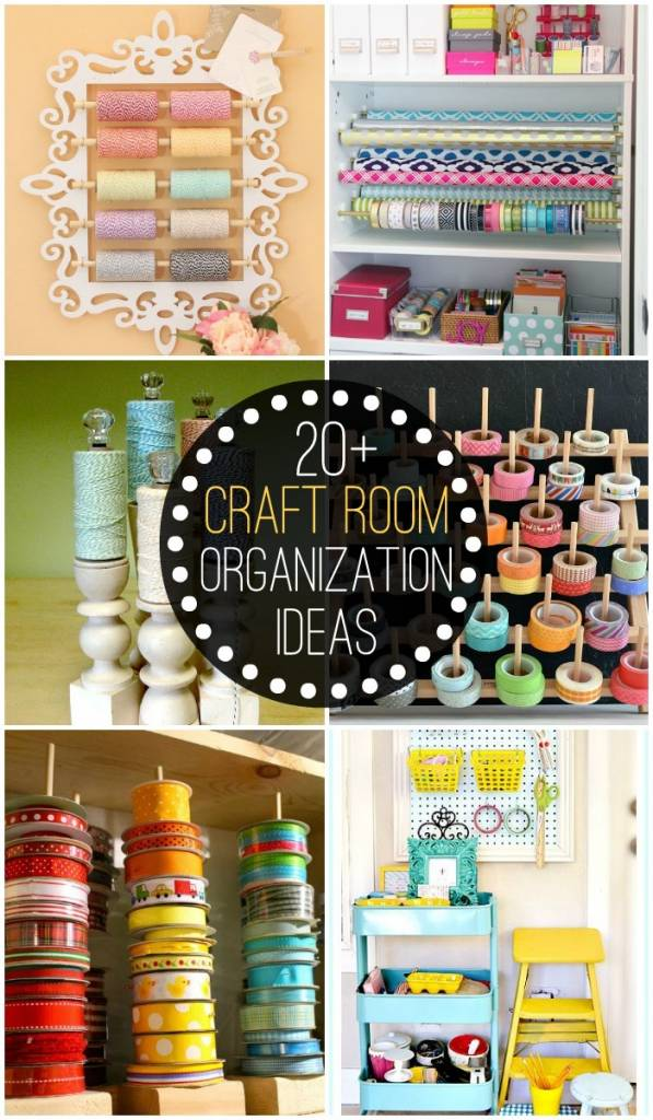20 craft room organization ideas scrap booking for Craft supplies organization ideas