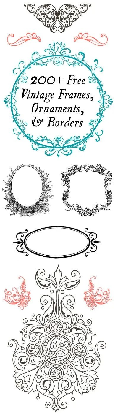 200 free vintage frames and borders