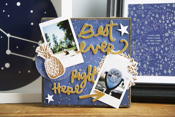 DIY Photo Display Box by Blitsy - keep those summer memories close until next year!
