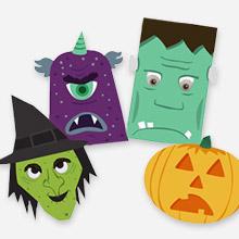 Halloween Monster WIndow Decorations from Snapfish - featured at Craft Gossip
