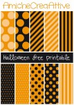 Orange & Black; Dots & Stripes | Printable Halloween Papers