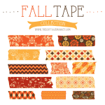 FREE Fall Digital Washi Tapes