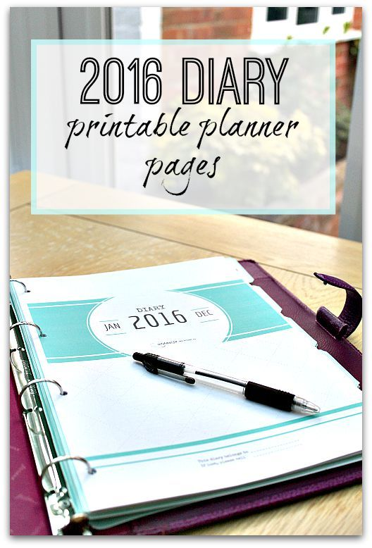 2016 Diary Planner from Organise my House