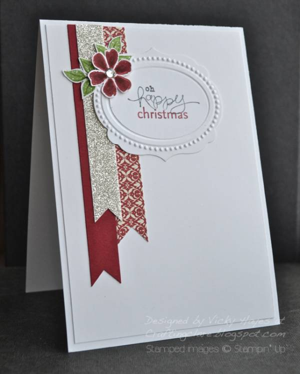 5 Ideas for Easy DIY Christmas Cards - Banners and flower