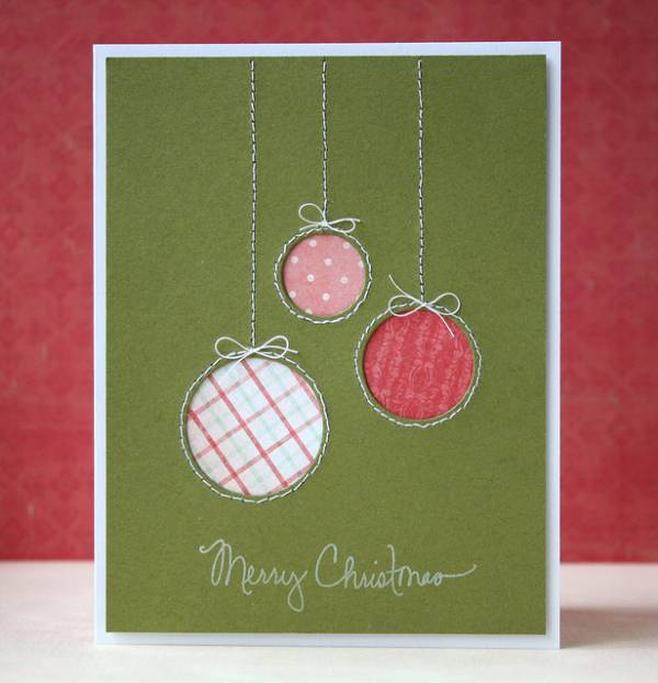 5 Ideas for Easy DIY Christmas Cards - Cut out ornaments
