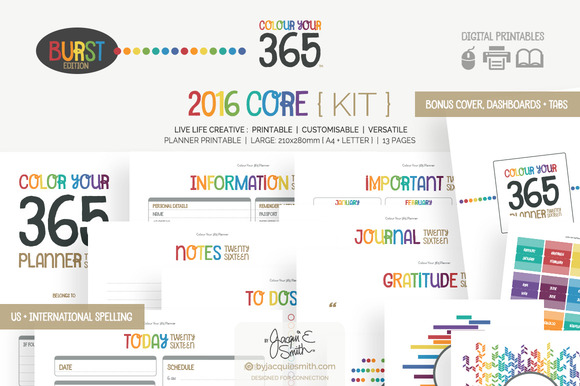 Colour Your 365 Core Planner Kit