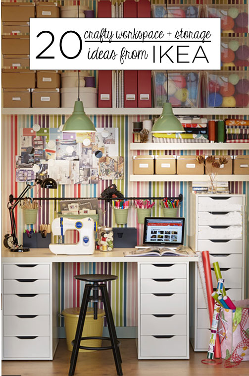 20 crafty workspace storage ideas from ikea scrap booking - Meuble de couture ikea ...