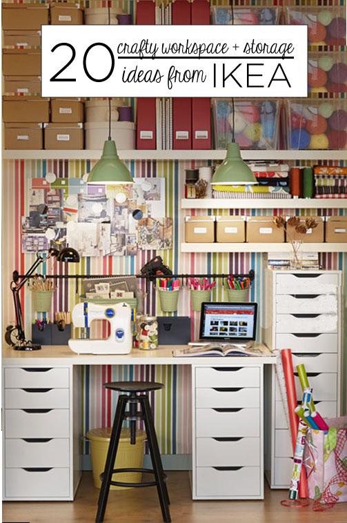20 Crafty Workspace + Storage Ideas from Ikea & 20 Crafty Workspace + Storage Ideas from Ikea u2013 Scrap Booking