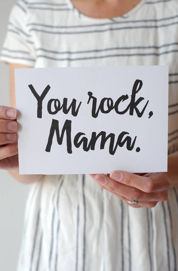 picture relating to Printable Notecard referred to as Moms Working day Totally free Printable Be aware Card By yourself Rock Mama