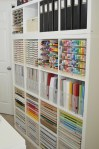 Paper Craft Storage in IKEA Kallax Shelving