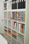 Paper Craft Storage in IKEA Kallax Shelving