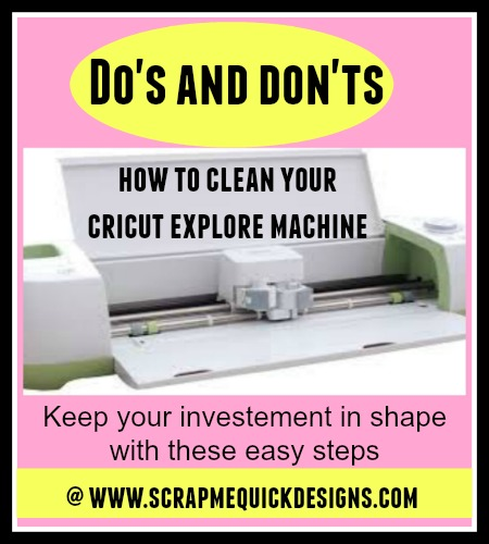 Cricut how to clean your machine
