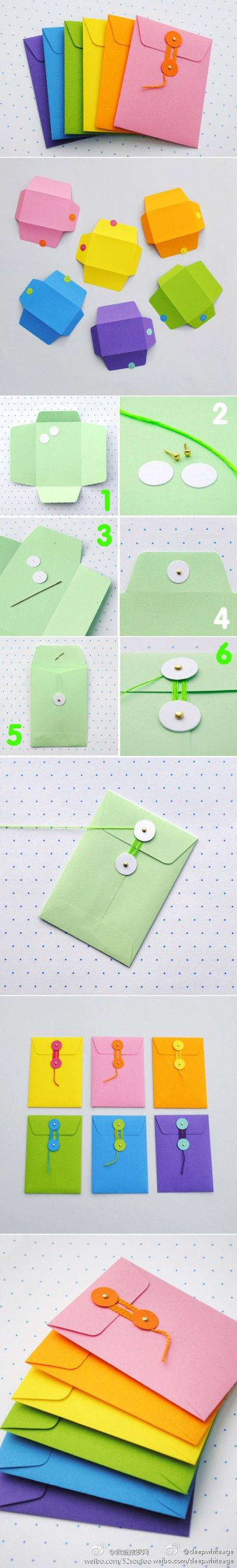How to make string tie envelopes to use as paper pockets