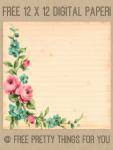 Free Vintage Digital 12×12 Paper