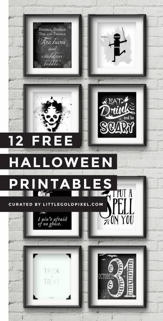 12 free halloween poster printables scrap booking