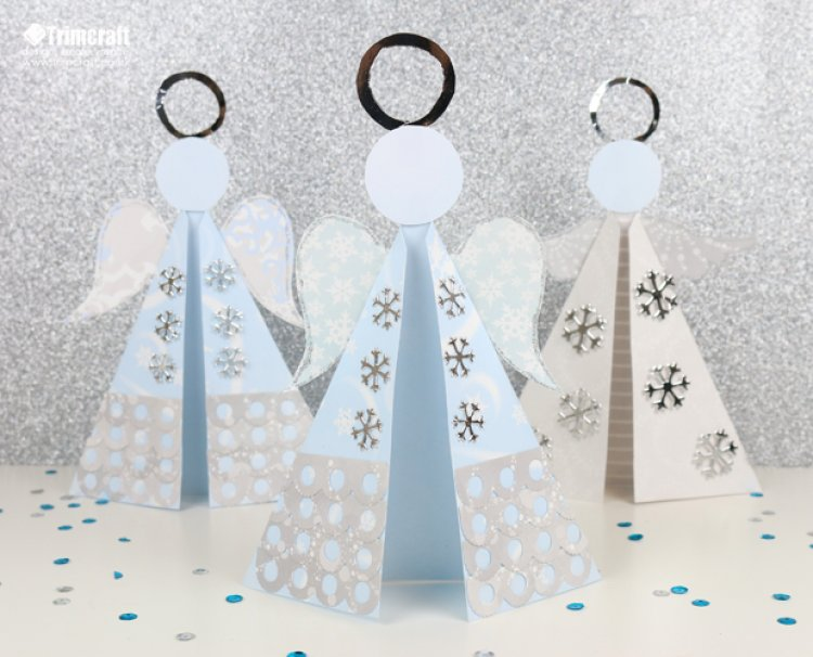 Make an angel card with free printable template scrap for Free printable christmas craft templates