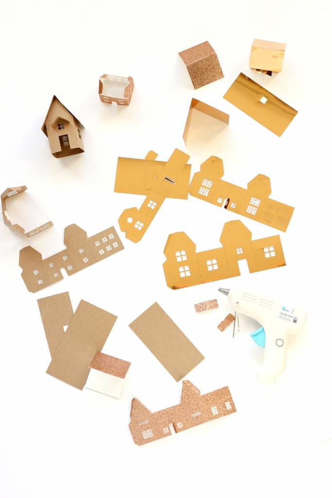 Free Christmas Mini House Cut File Or Template Scrap Booking