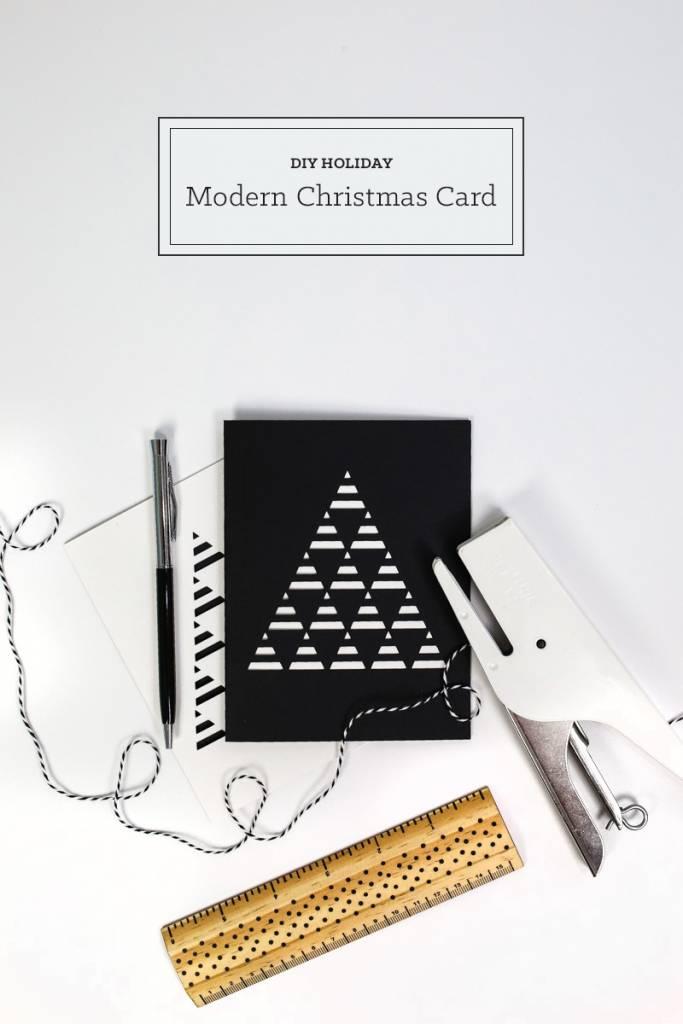 DIY Modern Christmas Card – Scrap Booking