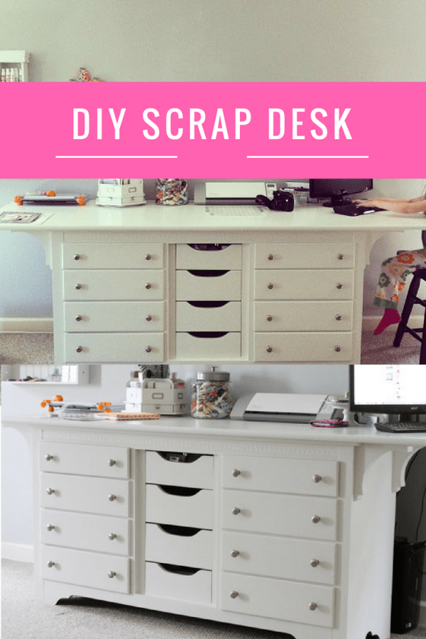 Diy Scrap Table Dresser To Desk Scrap Booking