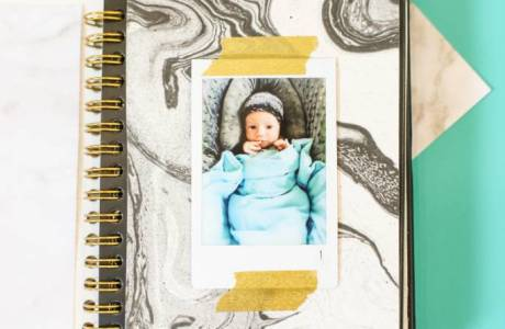 DIY Baby Photo Album with Instax Film