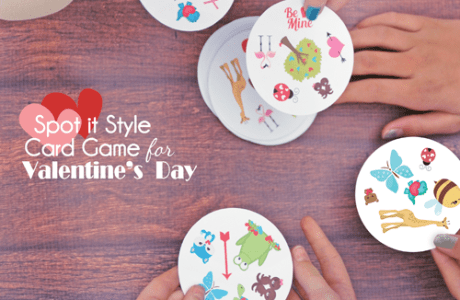 Printable Spot It Style Card Game for Valentine's Day