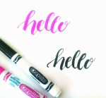 Brush Lettering with Crayola Markers