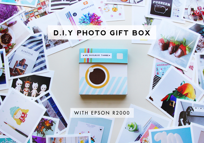 Printable D.I.Y Photo Gift Box for Instagram Photos