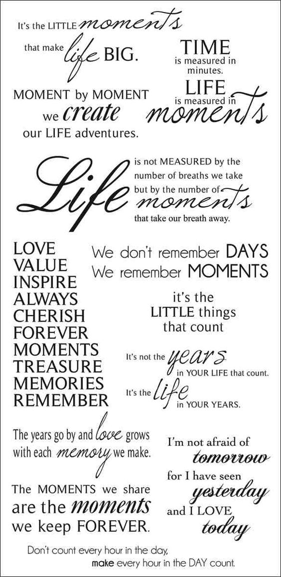 CMoments Quotes for Scrapbook Pages