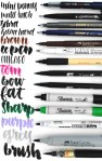 Favorite Hand Lettering Tools