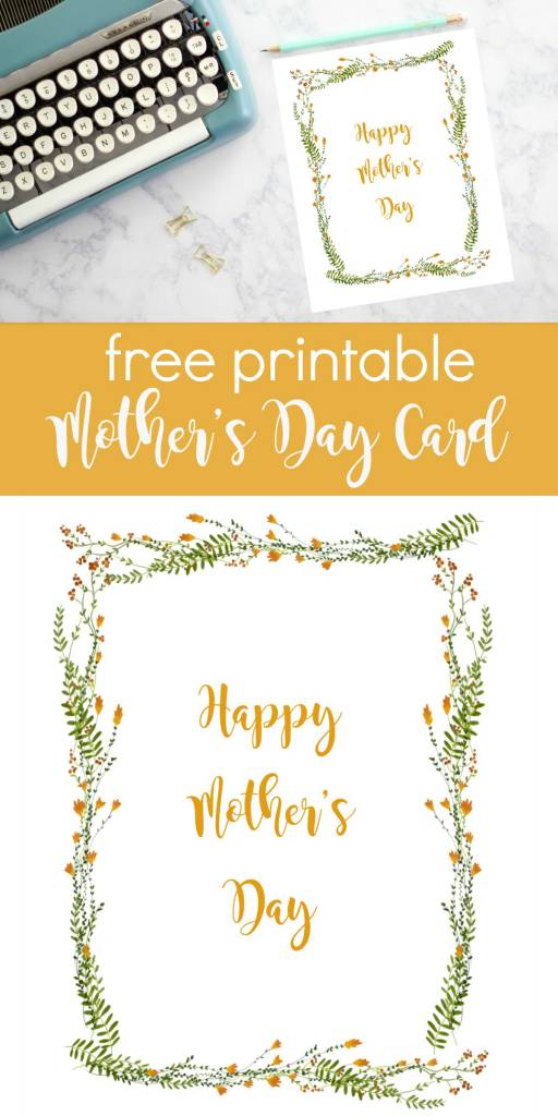 Happy Mother Day Printable Card