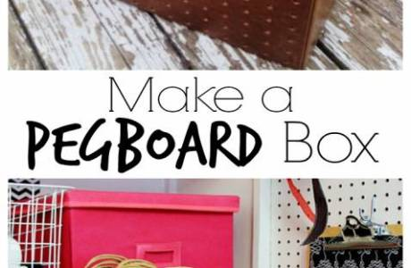 How to Make a Peg Board Storage Box