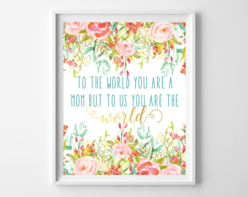 Mother's Day Floral Printable Art