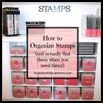 How to Organize Stamps and Stamping Accessories