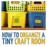 How to Organize a Tiny Craft Room Efficiently