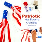 4th of July Craft Idea Patriotic Kids Blower