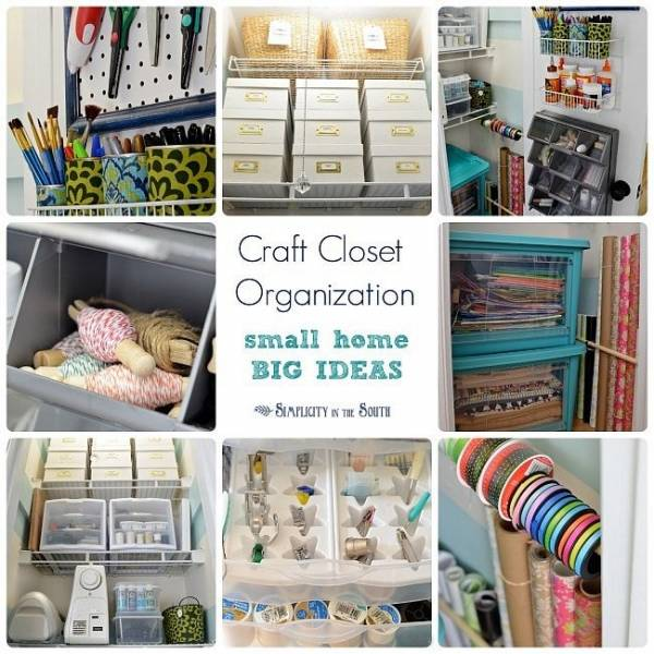 Craft Closet Organization Ideas Part - 23: Got A Craft Closet? See How To Make The Most Of It With These Tips And Ideas  Fro, Small Home, Big Ideas. Youu0027ll See How To Decorate Simply, ...
