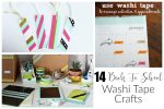 14 Back to School Washi Tape Crafts