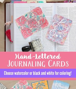 Printable Hand-Lettered Bible Journaling Cards