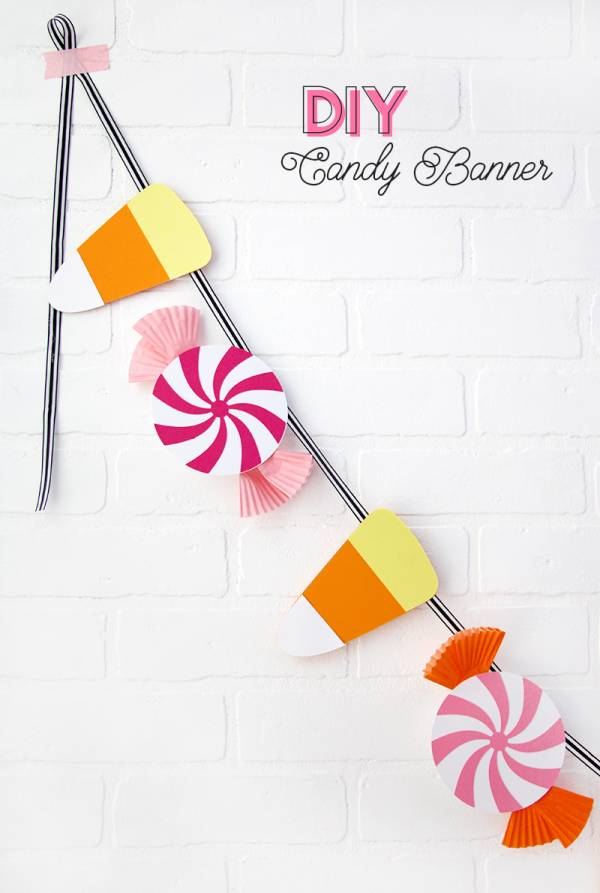 Diy Halloween Candy Banner With Cut File Or Printable