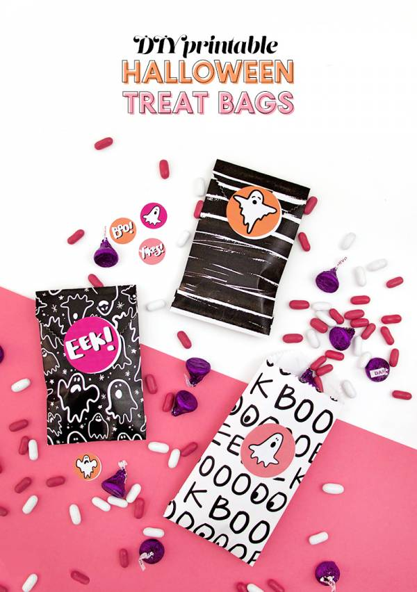 DIY Printable Treat Bags for Halloween
