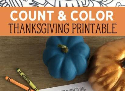 Count and Color Thanksgiving Printable