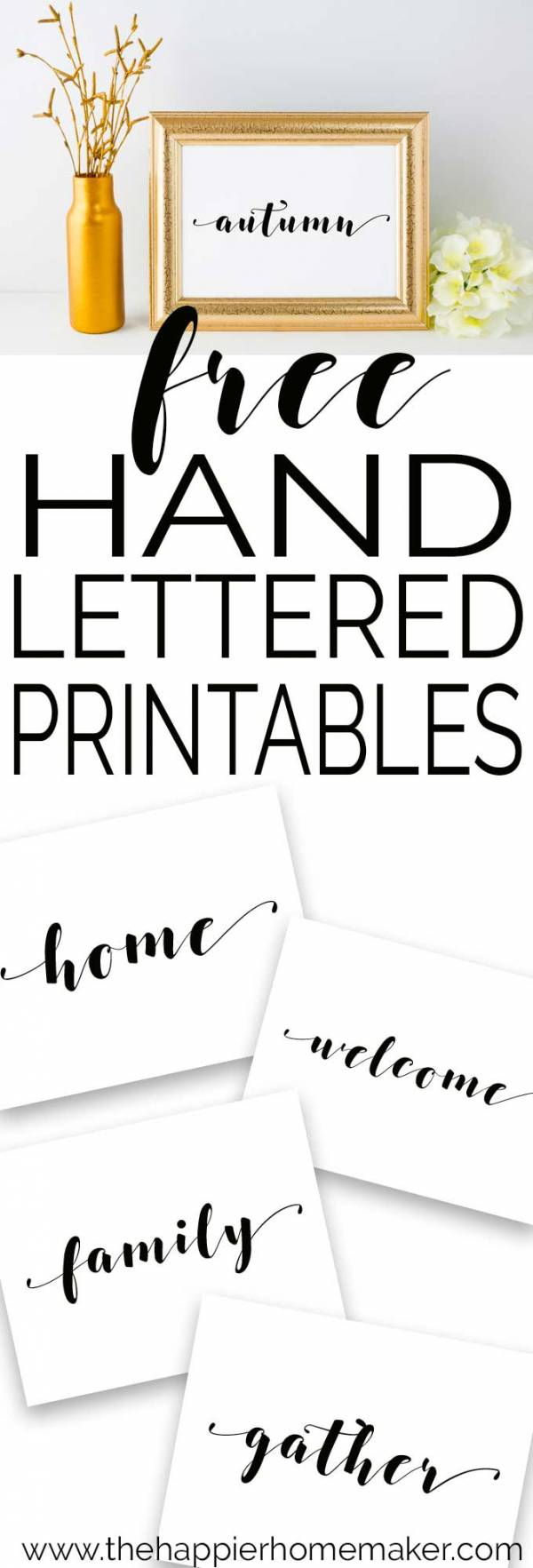 Beautiful and Simple Handwritten Printables for Autumn
