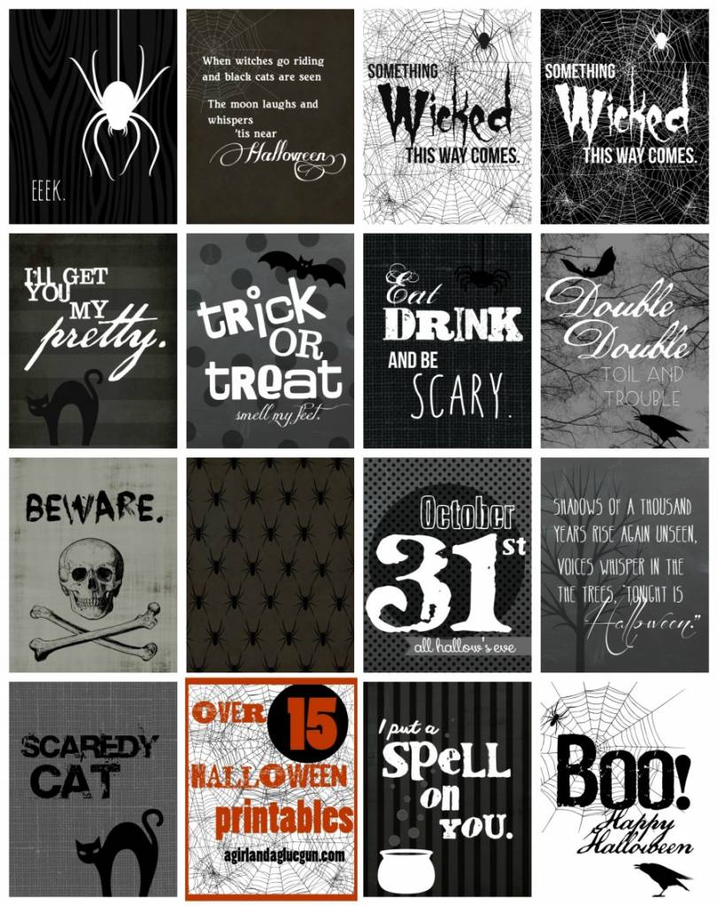 10+ Halloween Printables That Will Put the Spook in Your Life