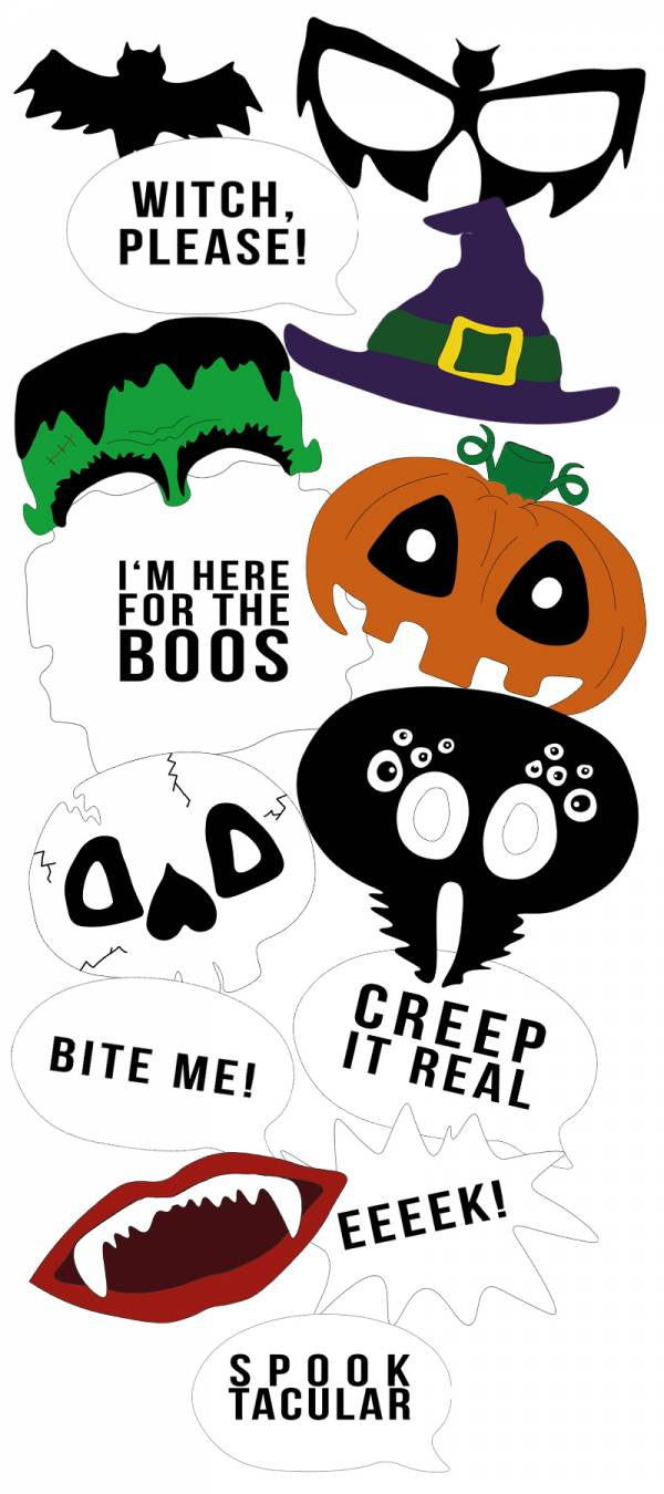 graphic about Halloween Photo Booth Props Printable Free identify Do it yourself Halloween PhotoBOOth Props S Scheduling