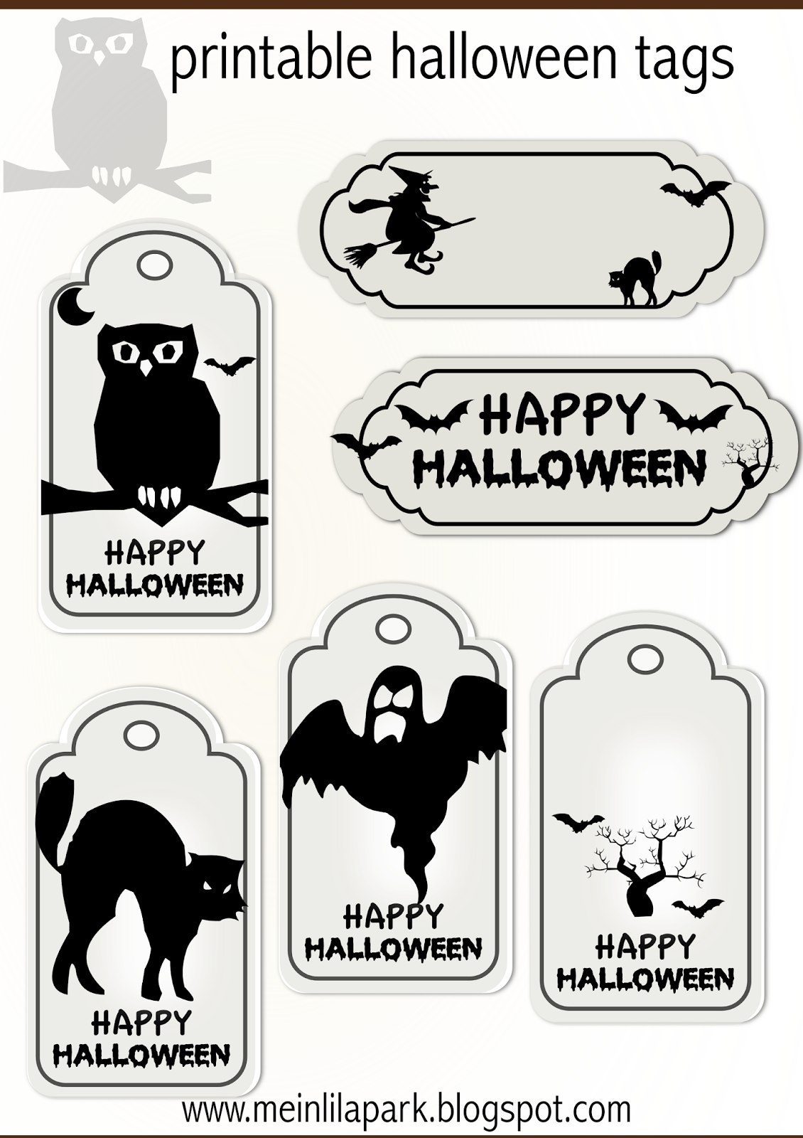 Fun printable halloween tags for scrapbooking paper crafts grab these free printable halloween tags to use in your scrapbooks and paper crafts they would work well in your planner or bullet journal for halloween jeuxipadfo Images