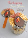 DIY | Thanksgiving Paper Flower Turkey Embellishment
