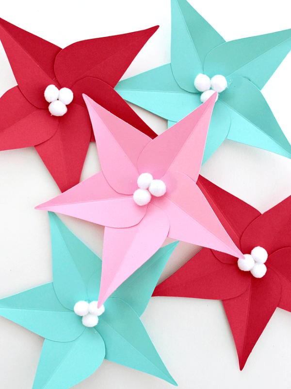 How To Make Paper Poinsettia Leaves (with Template)
